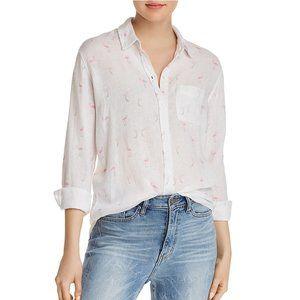 Rails Charli Flamingo Linen Button Up Shirt M